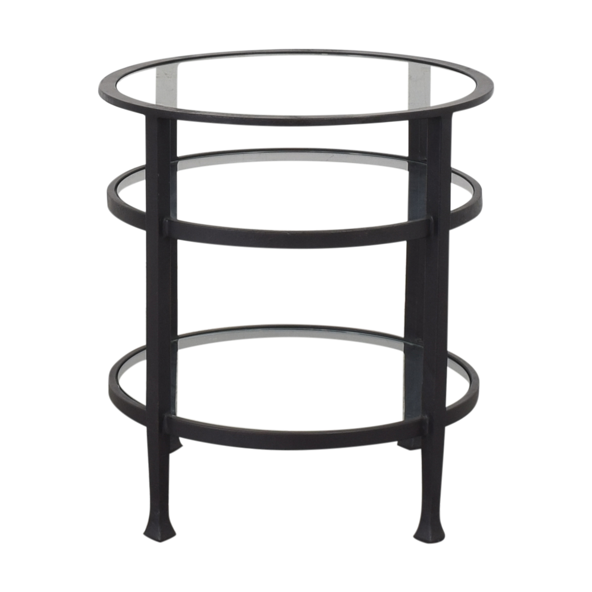 Restoration Hardware Round End Table / End Tables