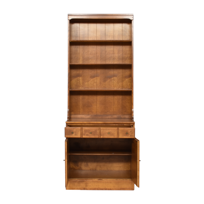 Ethan Allen Ethan Allen Heirloom Shutter Door Cabinet with Bookcase second hand