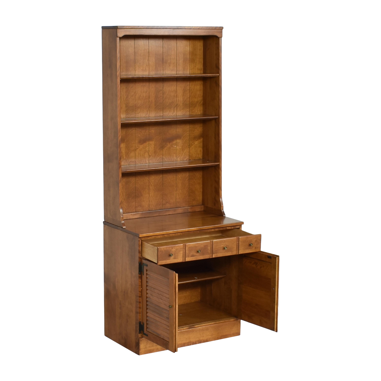 Ethan Allen Ethan Allen Heirloom Shutter Door Cabinet with Bookcase pa