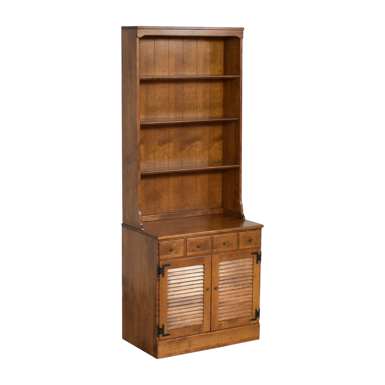 shop Ethan Allen Heirloom Shutter Door Cabinet with Bookcase Ethan Allen
