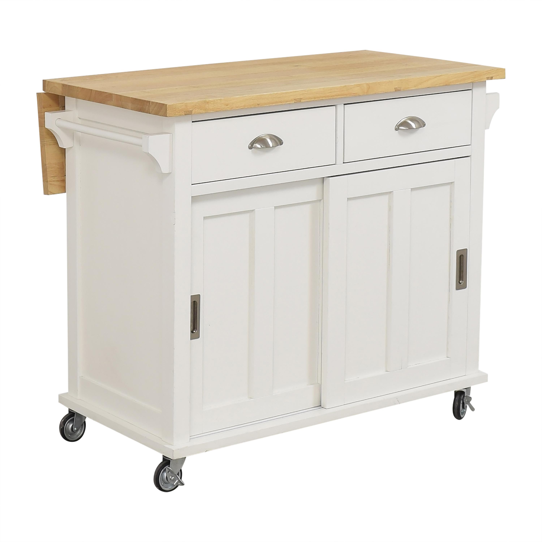 buy Crate & Barrel Belmont Kitchen Island Crate & Barrel Tables