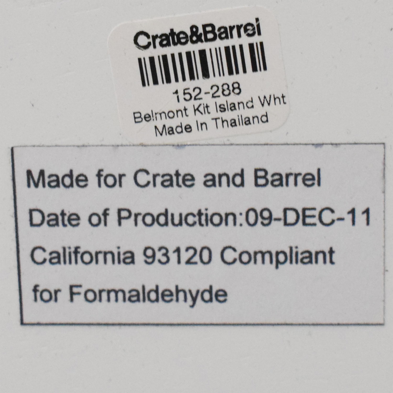 Crate & Barrel Crate & Barrel Belmont Kitchen Island white & brown