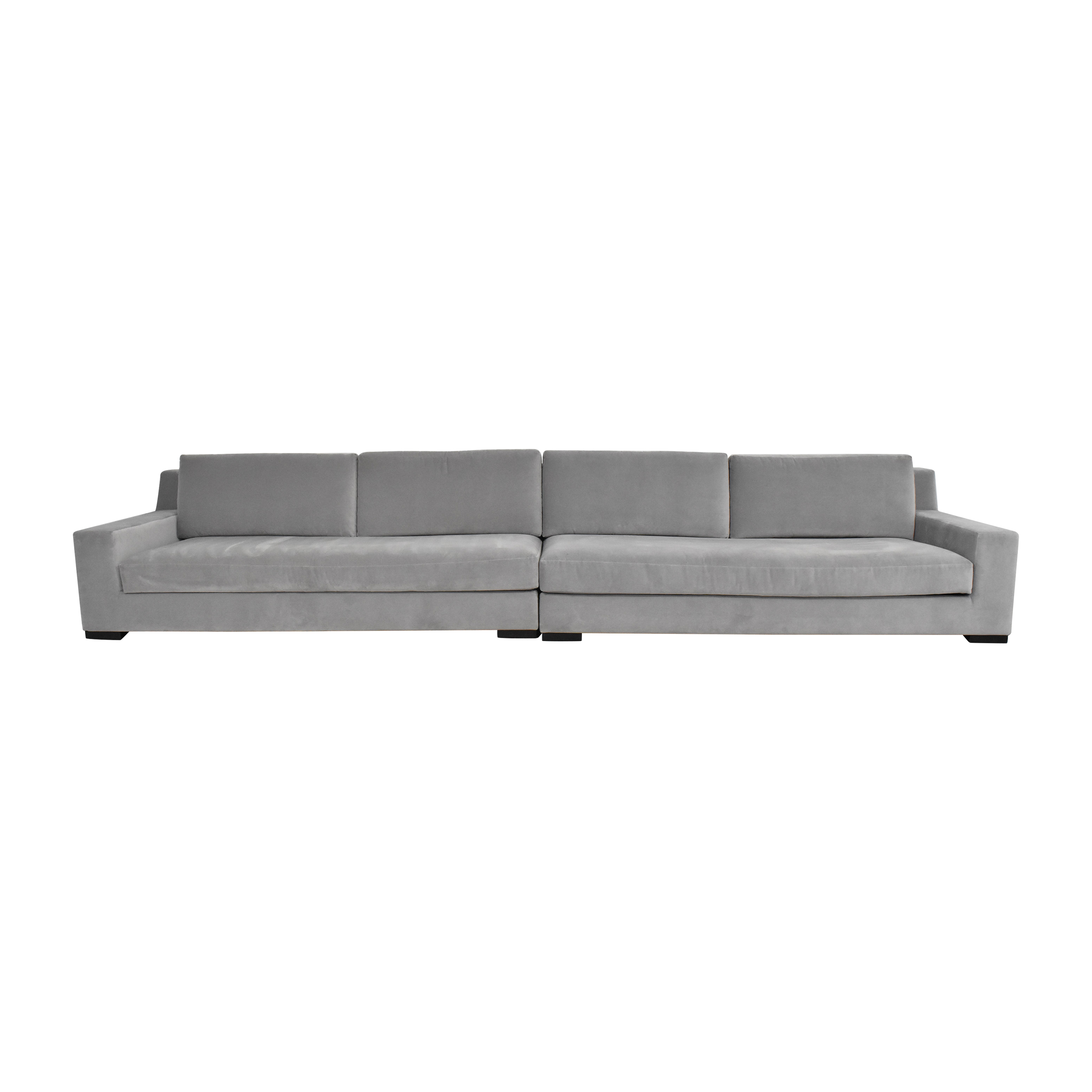 Restoration Hardware Restoration Hardware Modena Track Arm Sectional Sofa ct