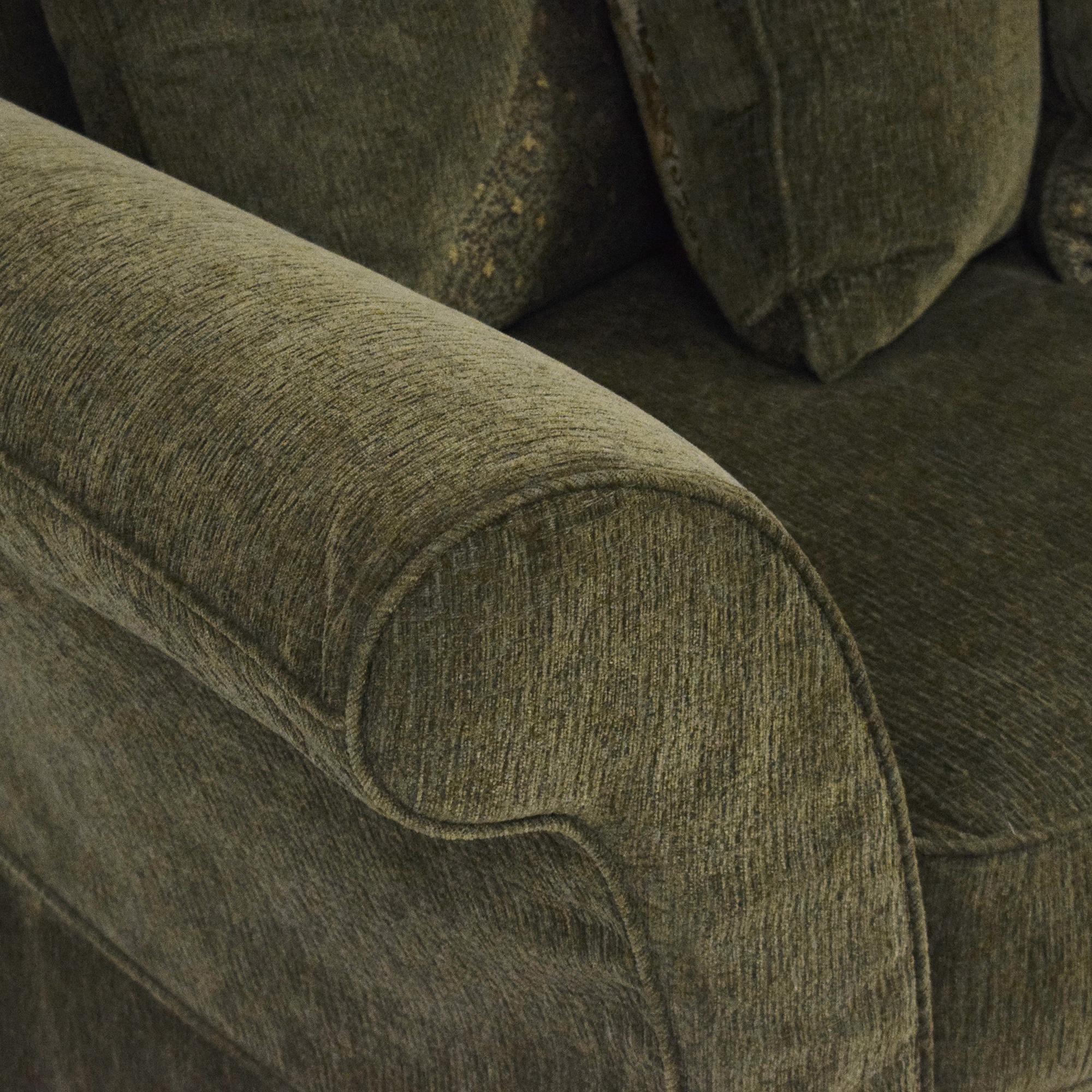 Flared Arm Skirted Sofa