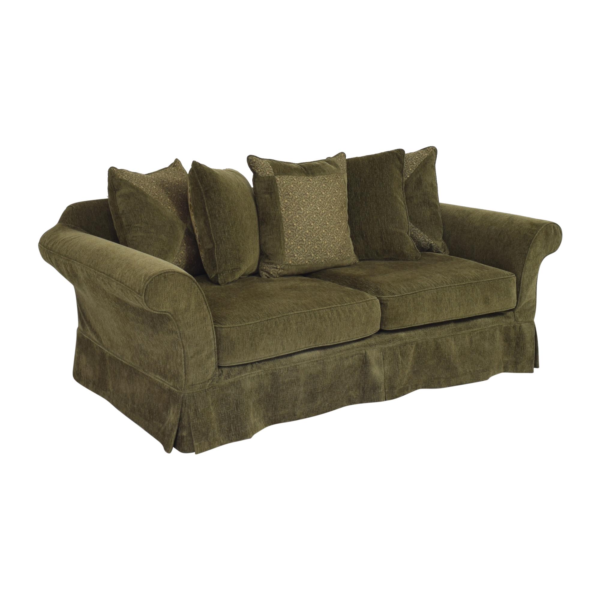 Flared Arm Skirted Sofa / Sofas