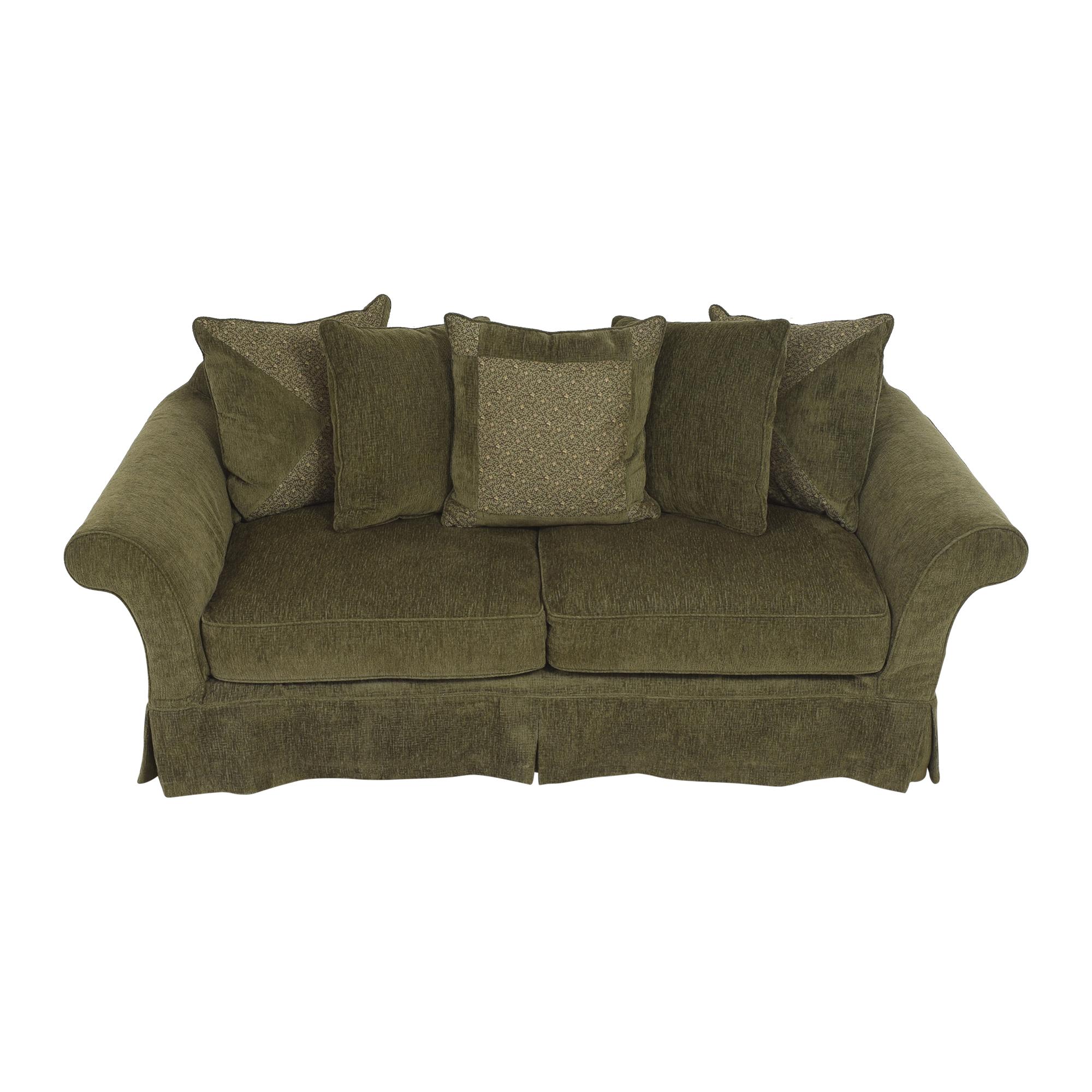 Flared Arm Skirted Sofa used