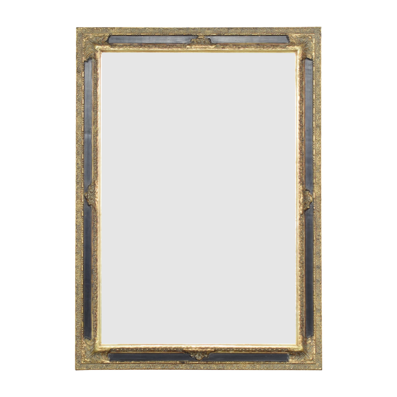 Decorative Framed Mirror gold & black