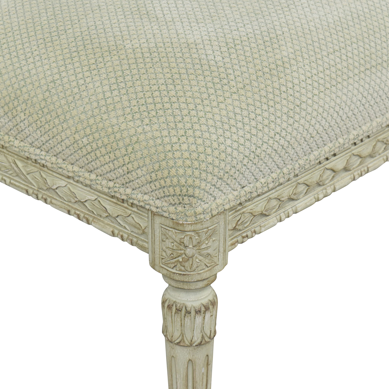Vintage-Style Upholstered Bench on sale