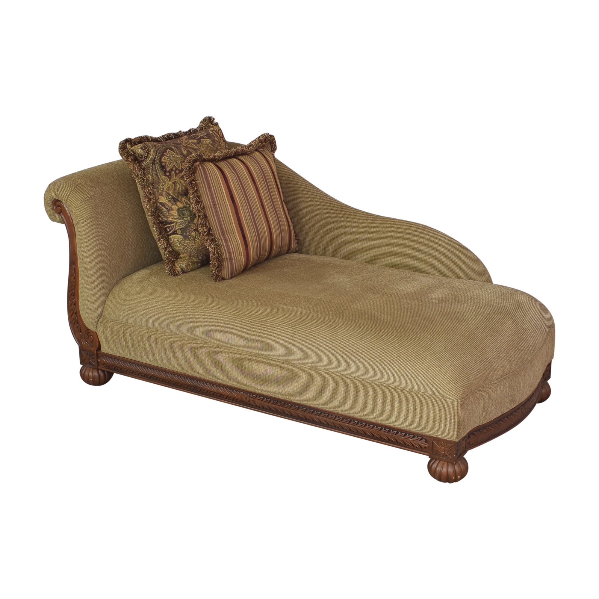 shop Raymour & Flanigan Rolled Back Chaise Raymour & Flanigan Chaises