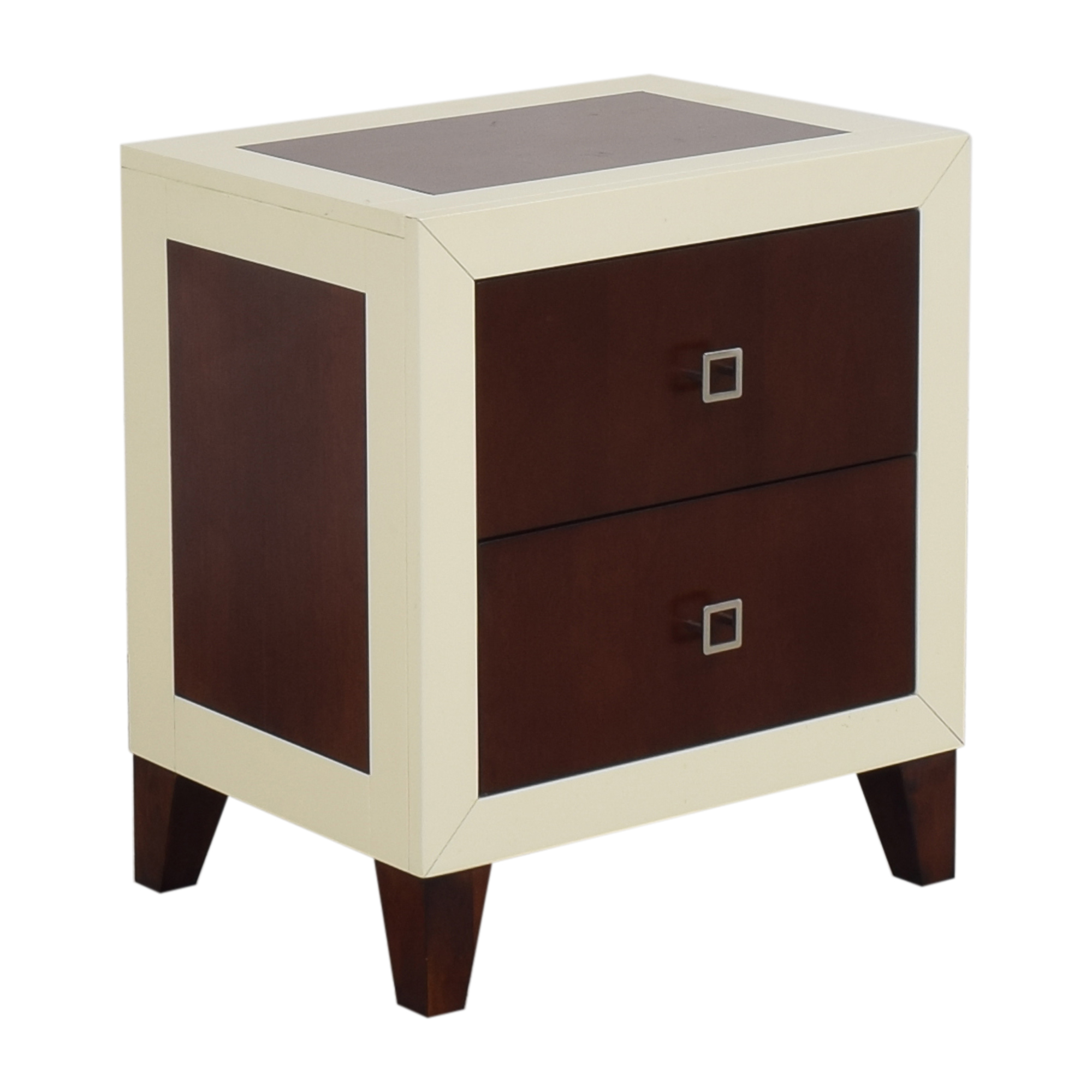 Najarian Furniture Najarian Furniture Zeno Nightstand brown & off white
