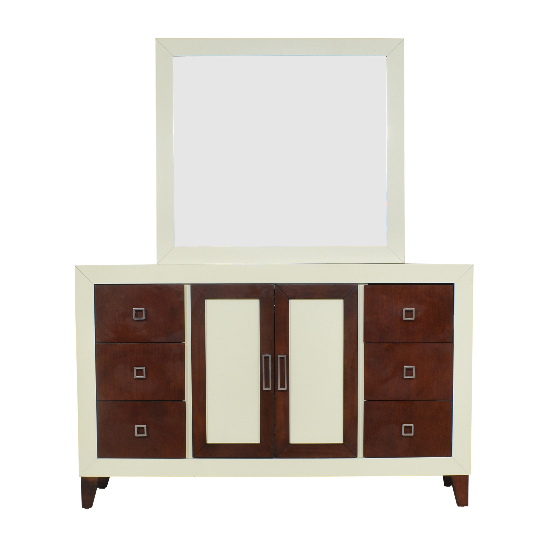 buy Najarian Furniture Zeno Dresser with Mirror Najarian Furniture