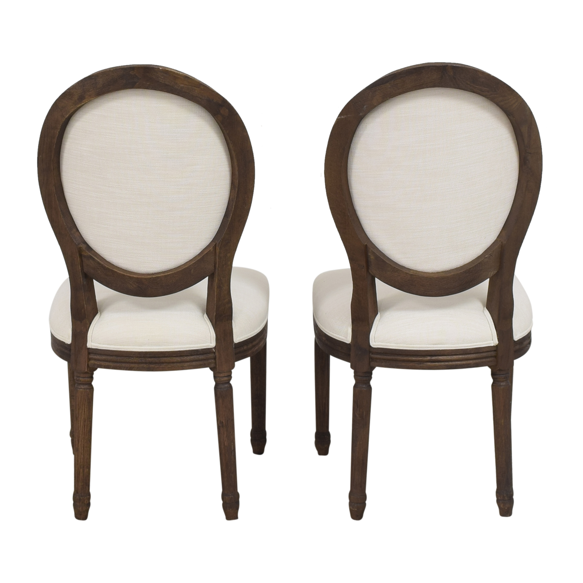 Restoration Hardware Restoration Hardware Vintage French Round Side Dining Chairs used