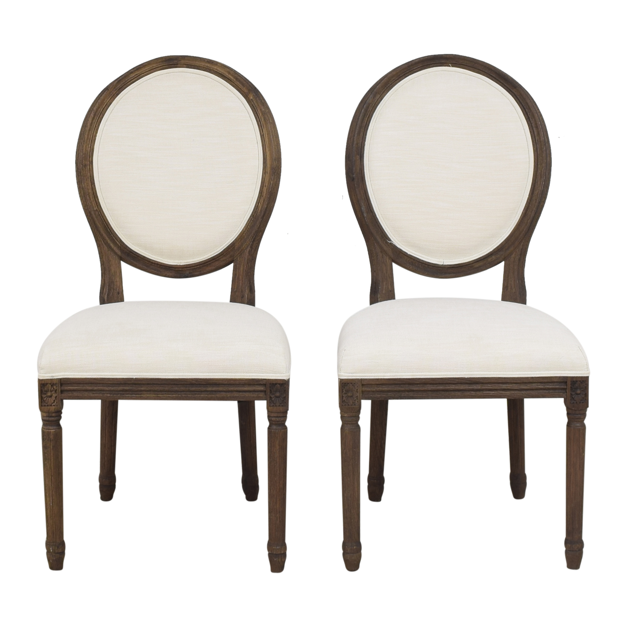Restoration Hardware Restoration Hardware Vintage French Round Side Dining Chairs price