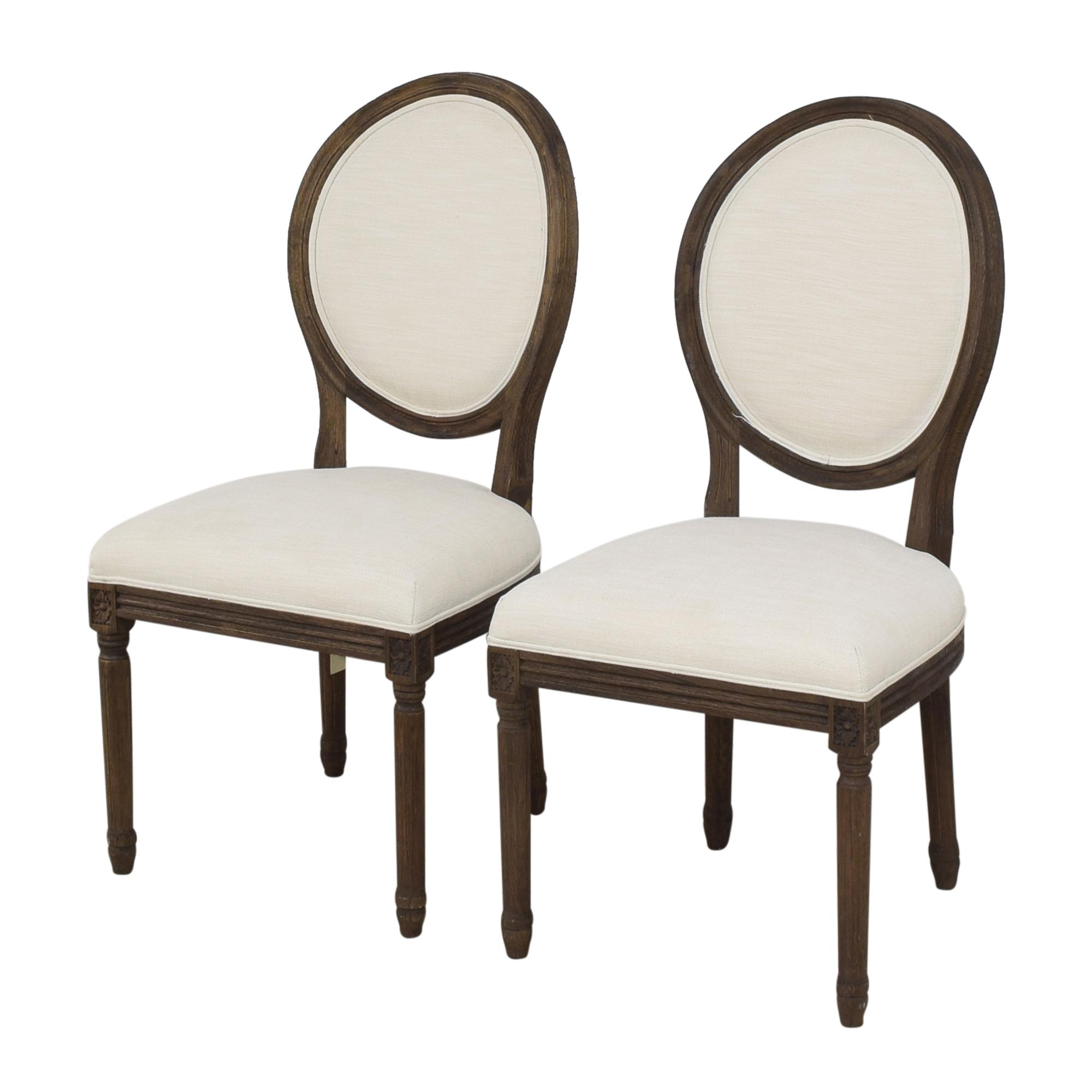 shop Restoration Hardware Vintage French Round Side Dining Chairs Restoration Hardware Chairs