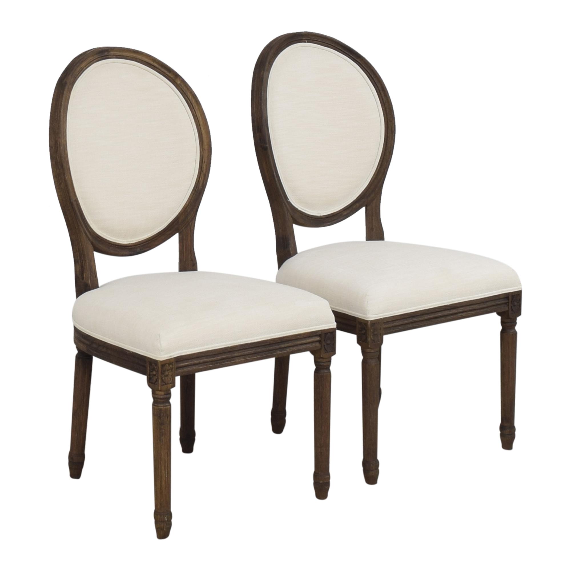 shop Restoration Hardware Vintage French Round Side Dining Chairs Restoration Hardware Dining Chairs