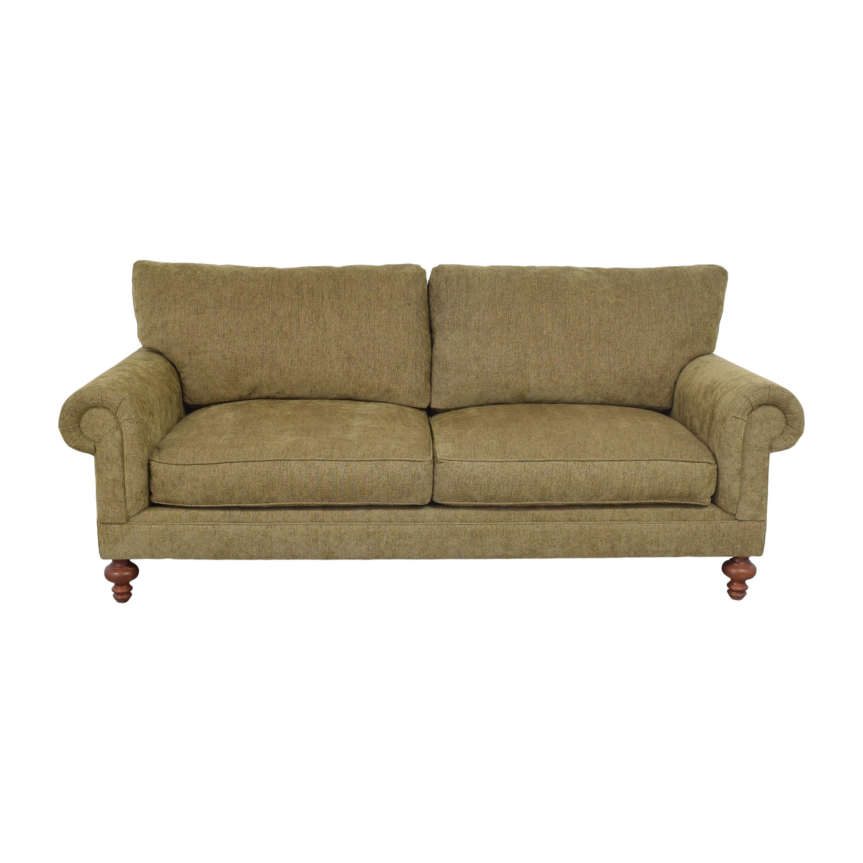Henredon Furniture Henredon Furniture Roll Arm Sofa Brown