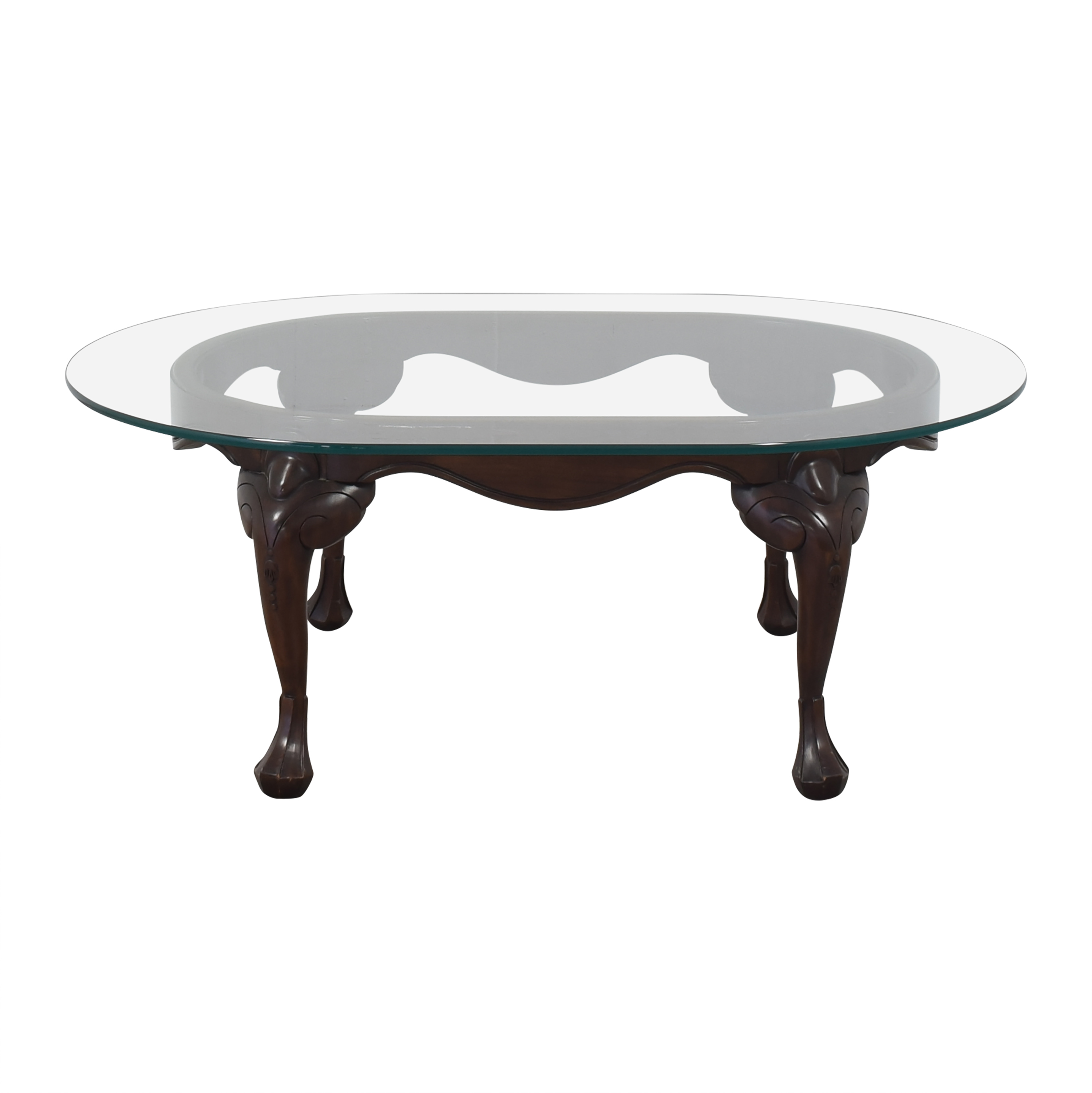Harden Harden Oval Transparent Coffee Table pa