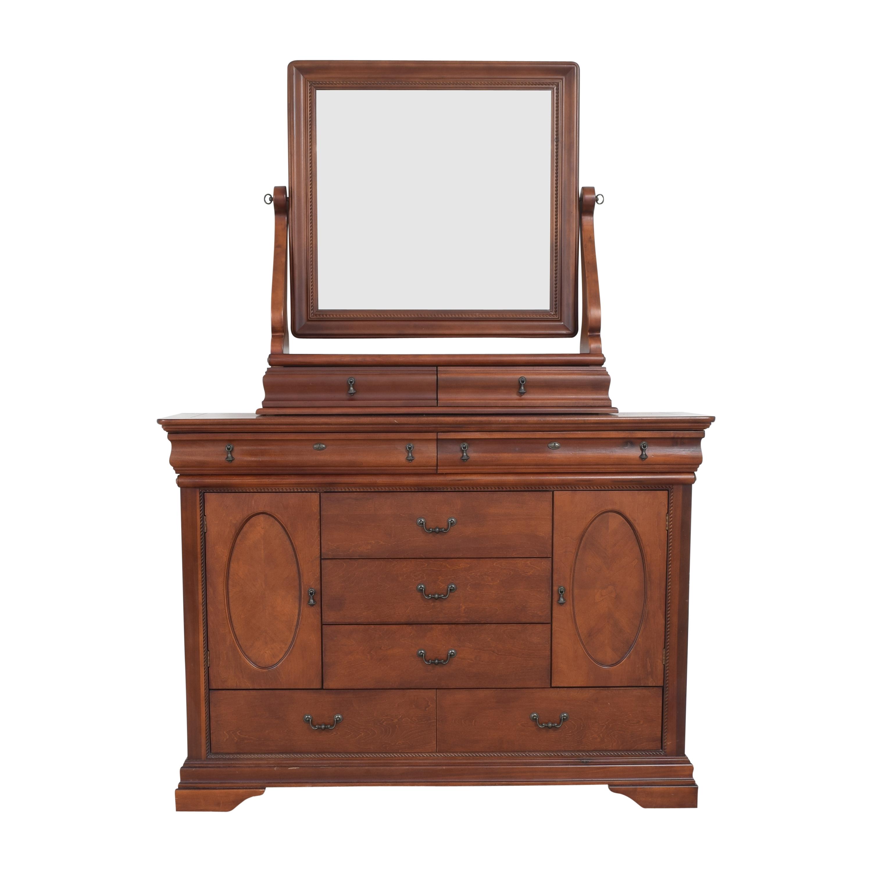 Broyhill Furniture Broyhill Two Door Dresser with Mirror Storage