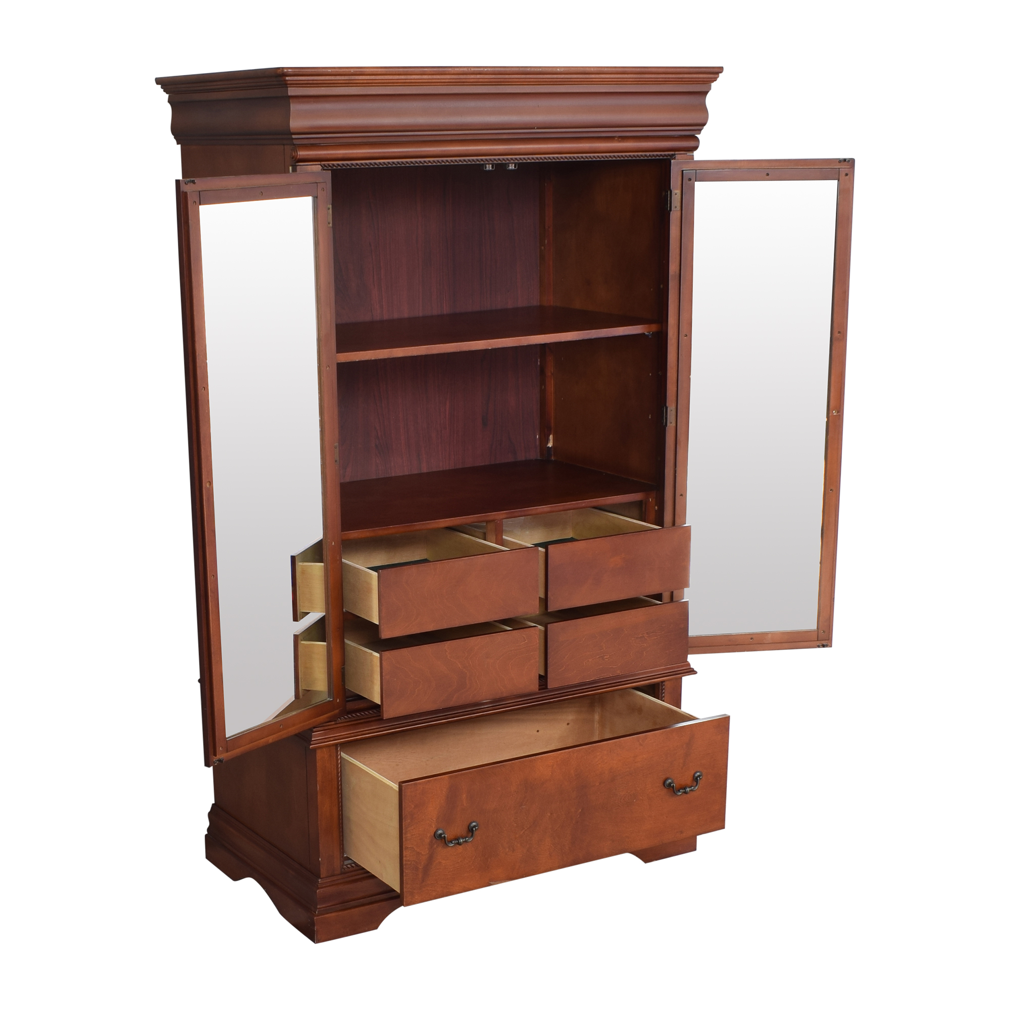 Broyhill Furniture Broyhill Furniture Two Door Armoire with Mirrors on sale