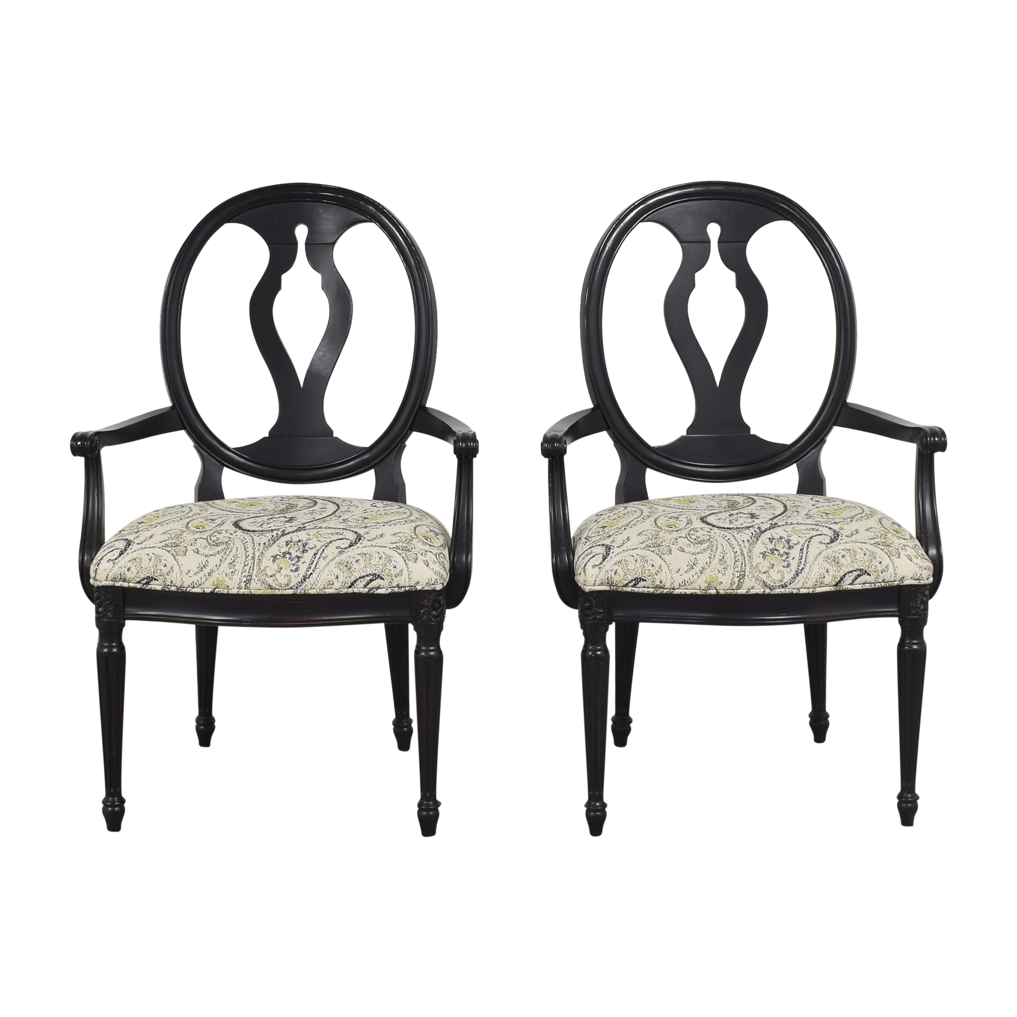 shop Ethan Allen Margaux Dining  Arm Chairs Ethan Allen Dining Chairs