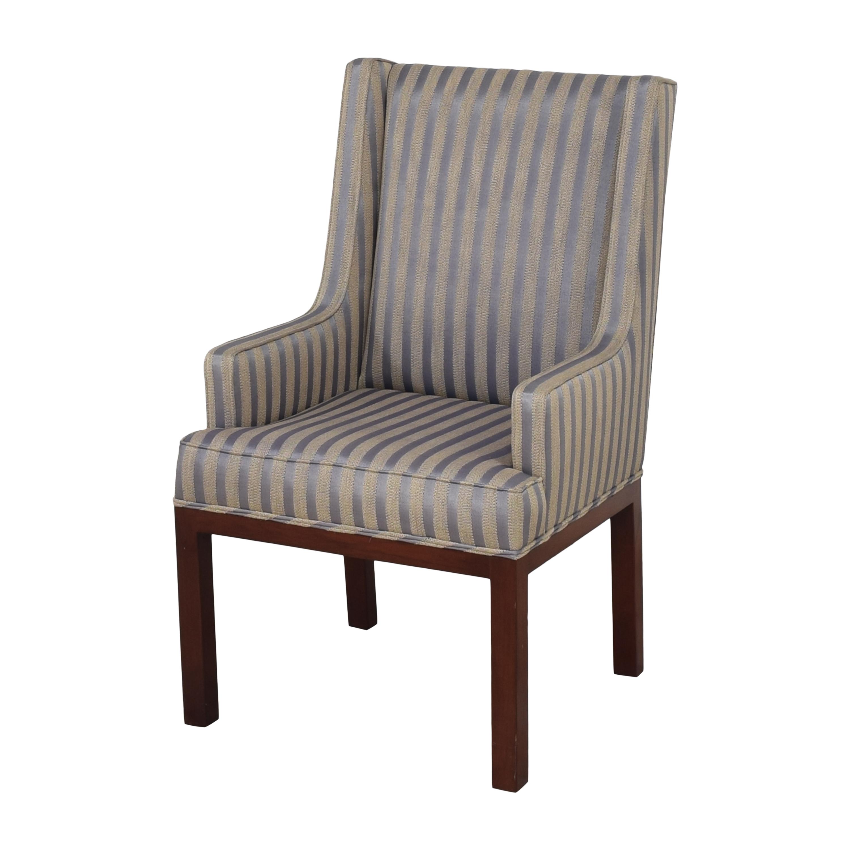 Striped Arm Chair pa