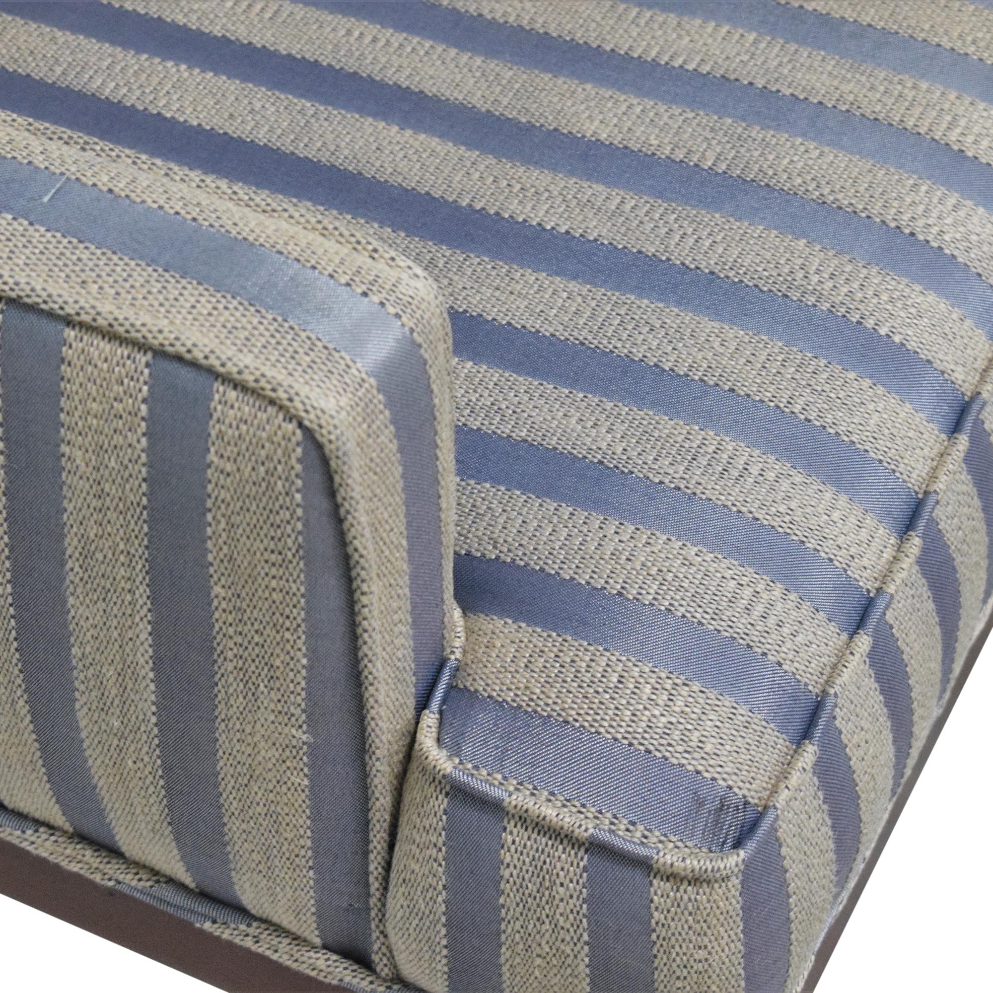 Striped Arm Chair Beige