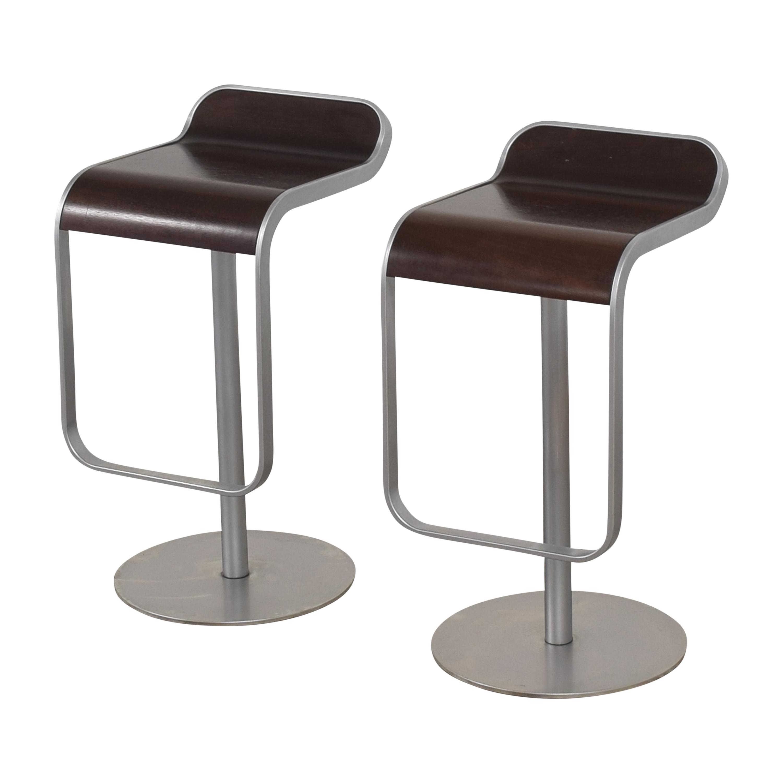 Design Within Reach Design Within Reach Lapalma LEM Piston Stools by Lapalma dark brown & silver