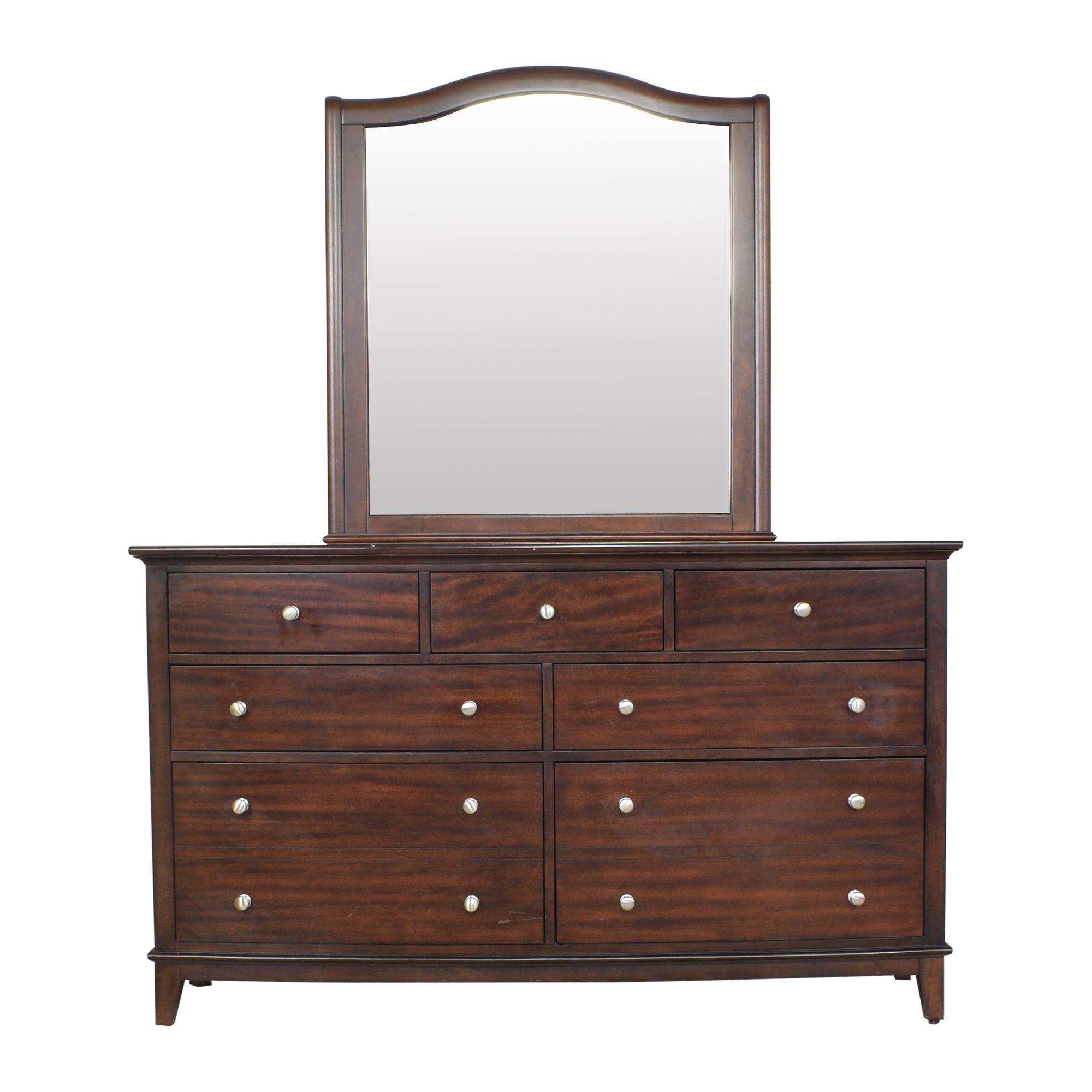 buy aspenhome Seven Drawer Dresser with Mirror aspenhome Dressers
