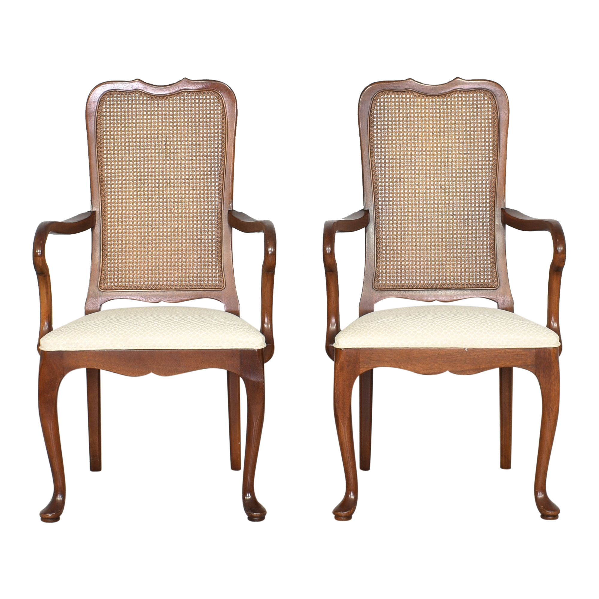 Mastercraft Furniture Mastercraft Furniture Cane Back Dining Arm Chairs ma