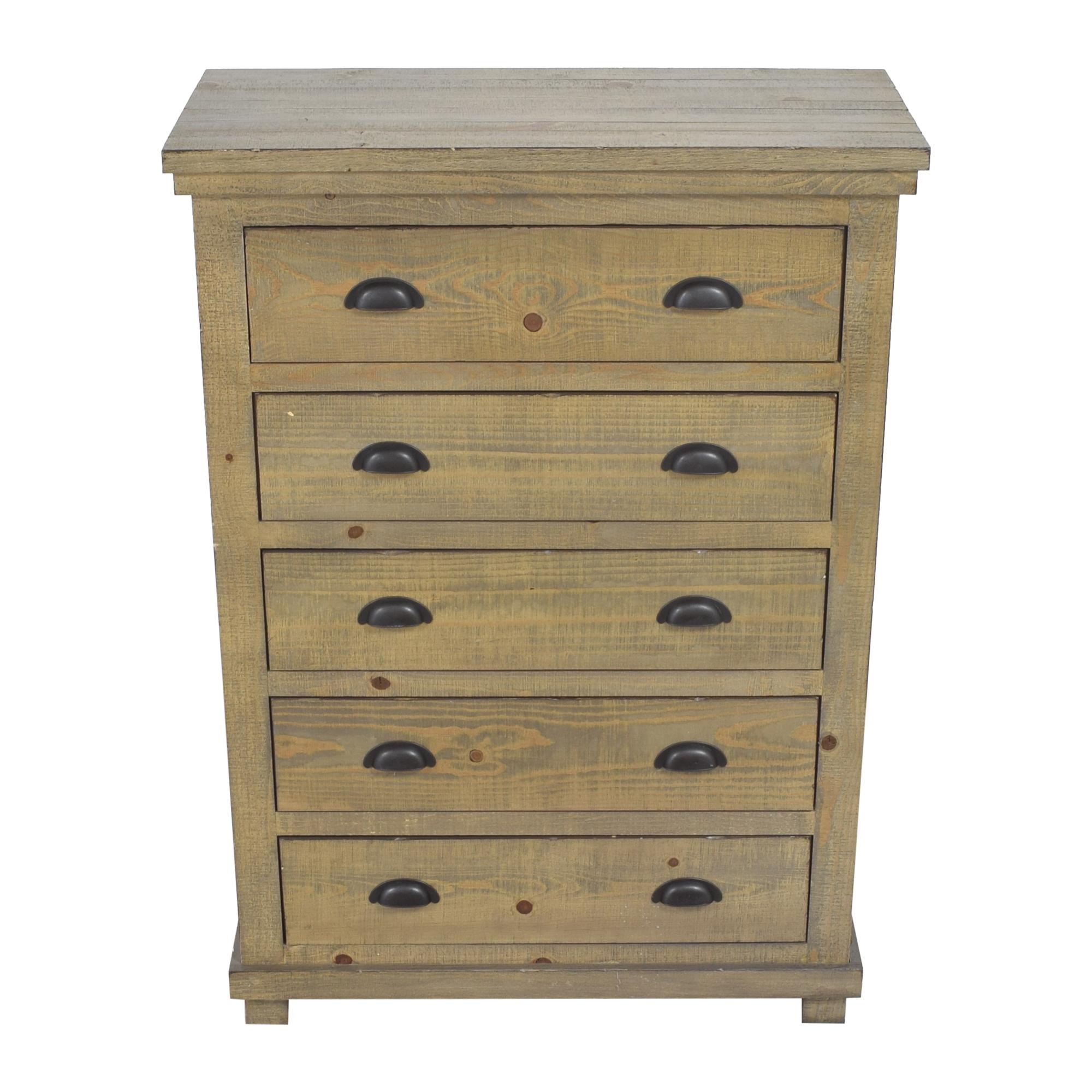 Progressive Furniture Willow Five Drawer Chest / Storage