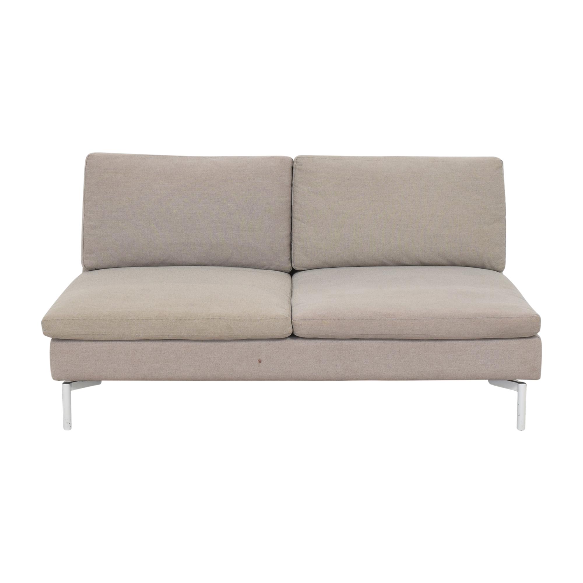 Blu Dot Blu Dot New Standard Armless Sofa dimensions