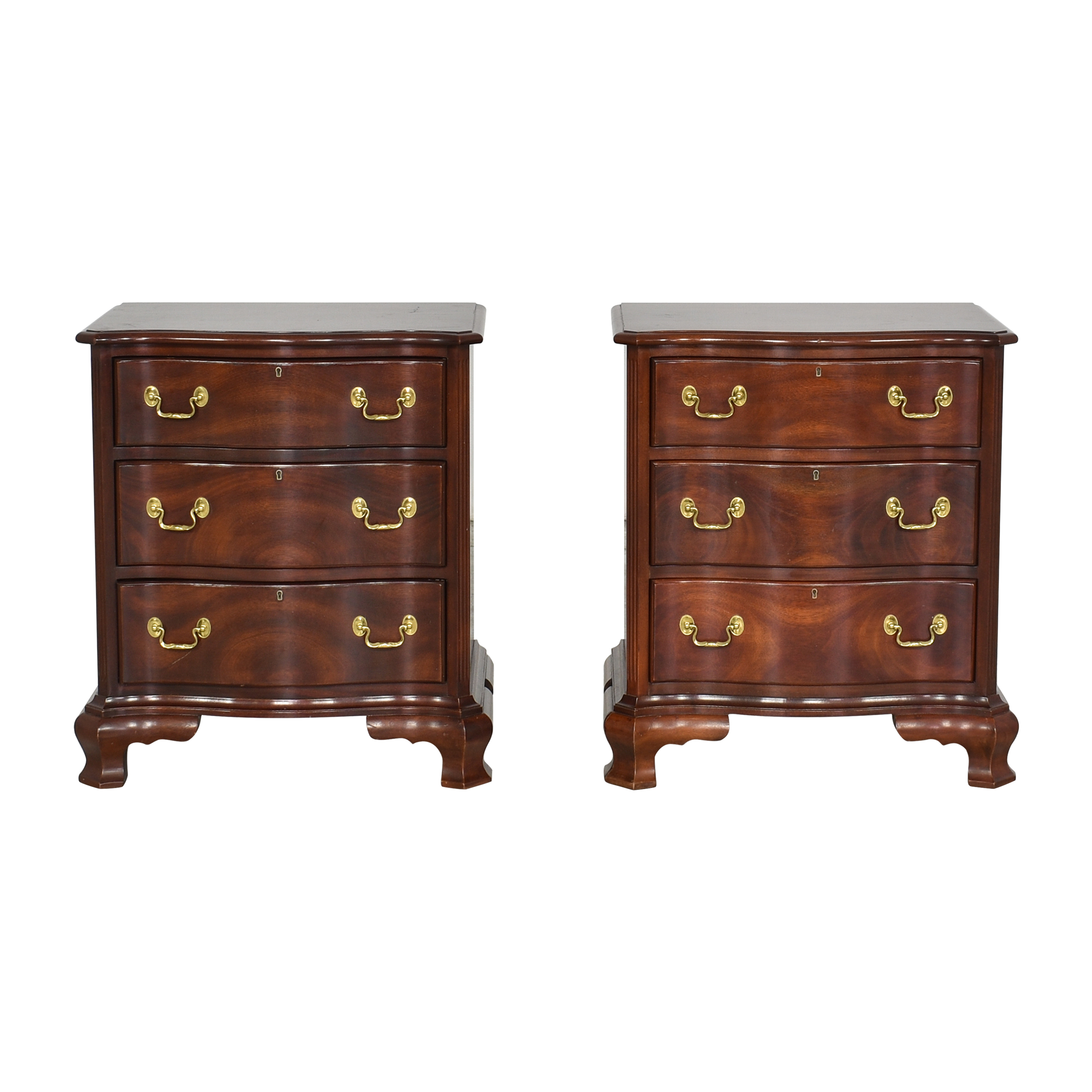 Councill Councill Craftsmen Three Drawer Nightstands Brown