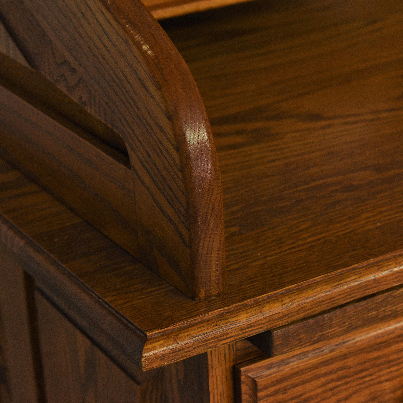 Custom Roll Top Double Pedestal Desk brown