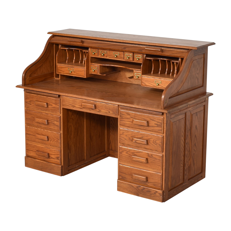 buy  Custom Roll Top Double Pedestal Desk online