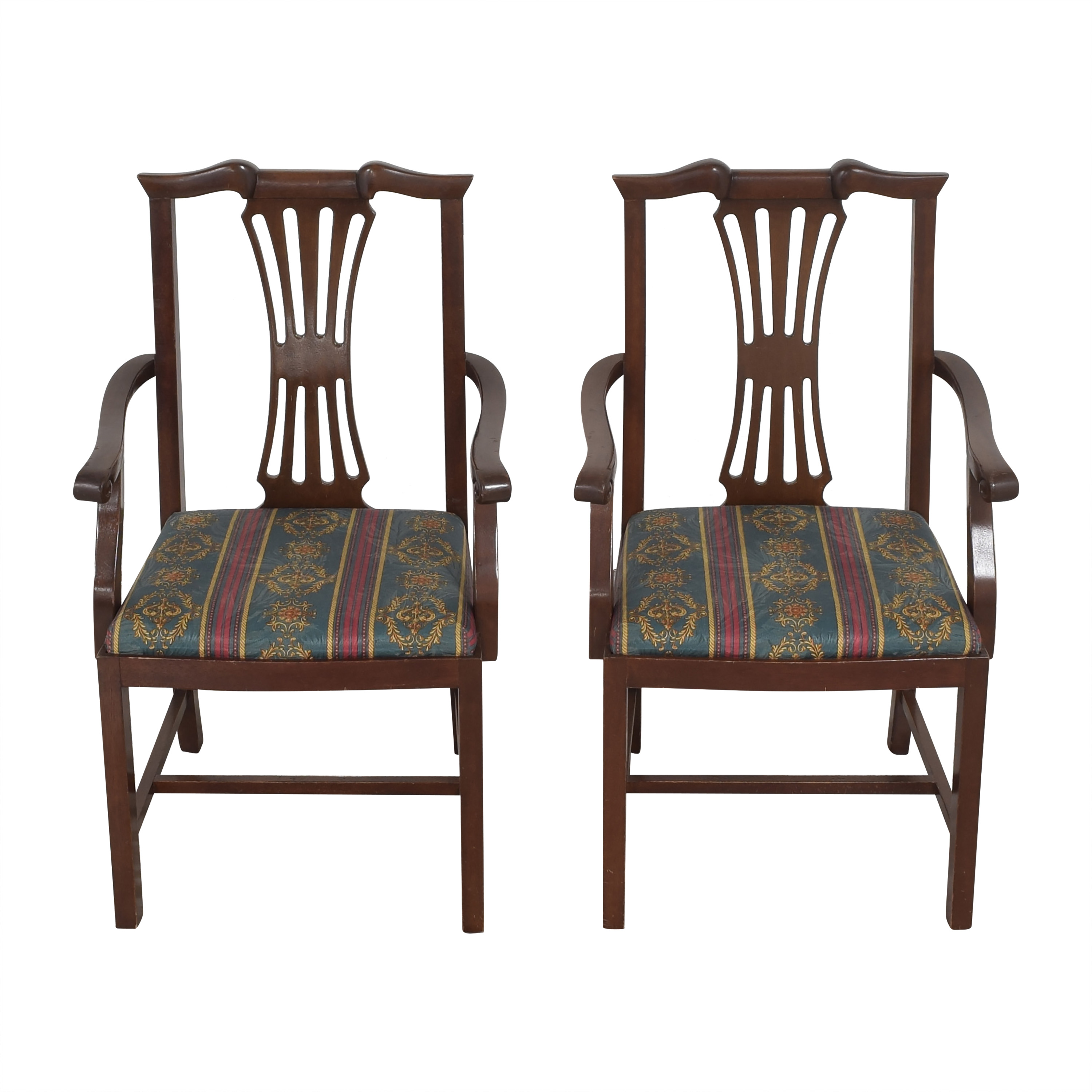 Chippendale Dining Arm Chairs second hand