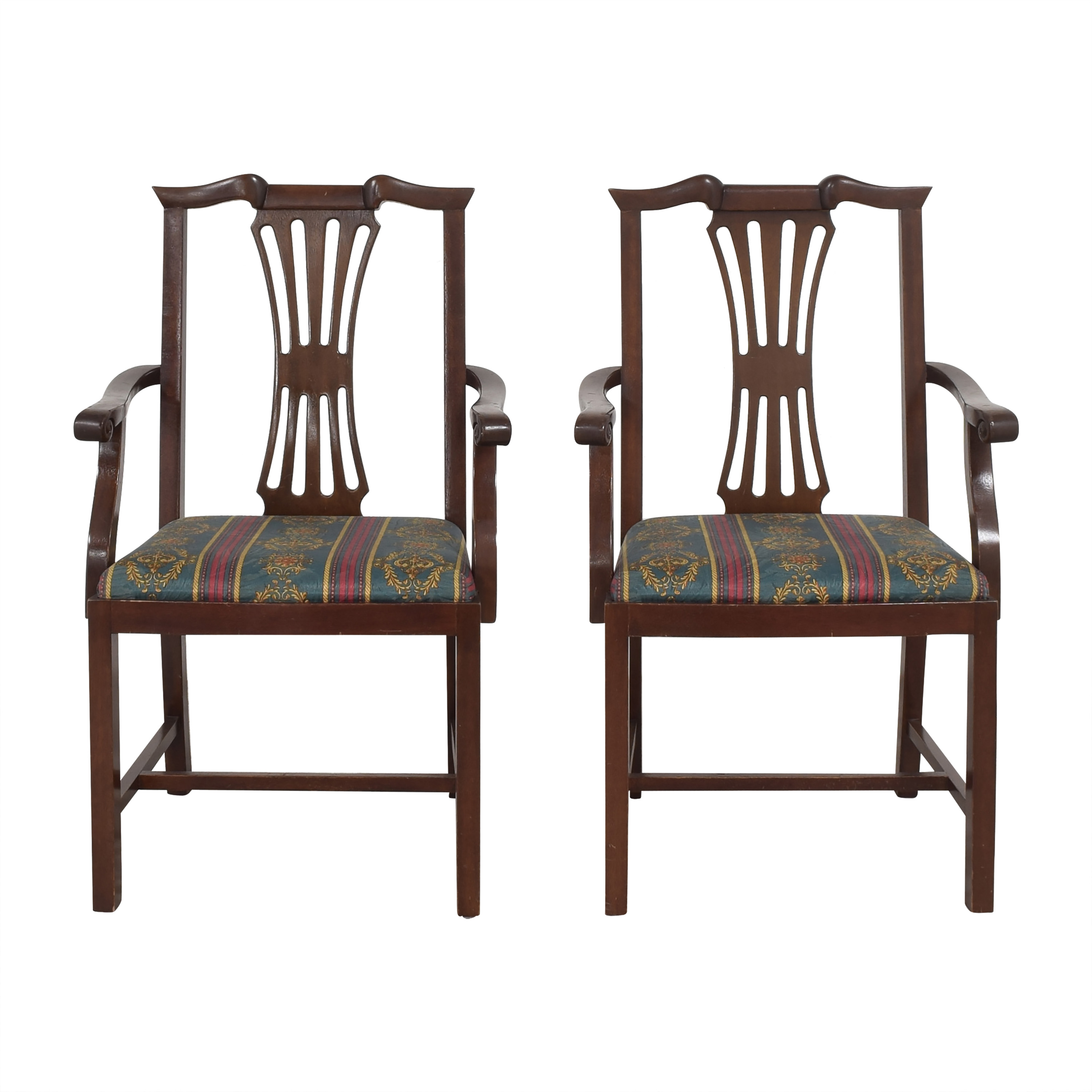 Chippendale Dining Arm Chairs discount