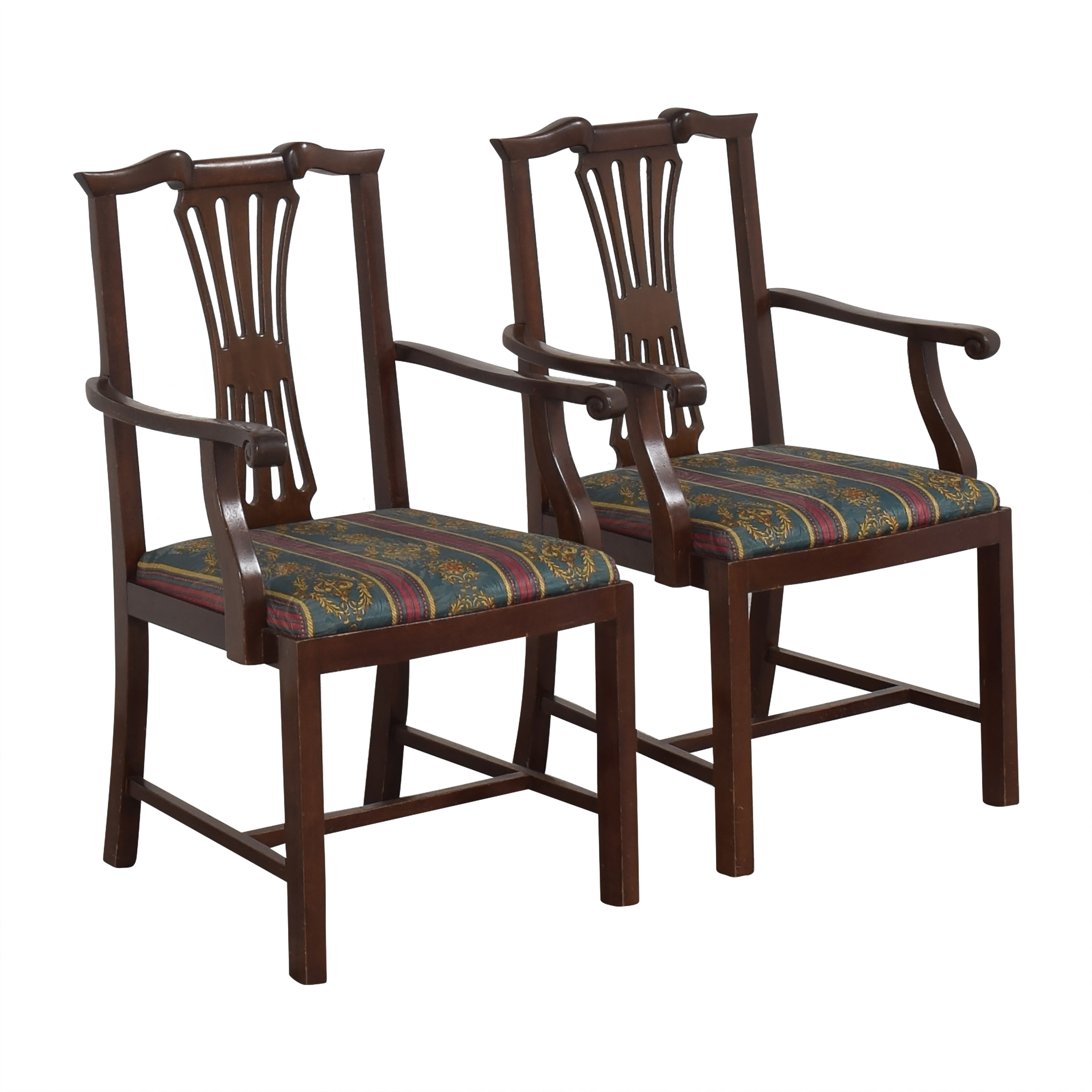 Chippendale Dining Arm Chairs pa