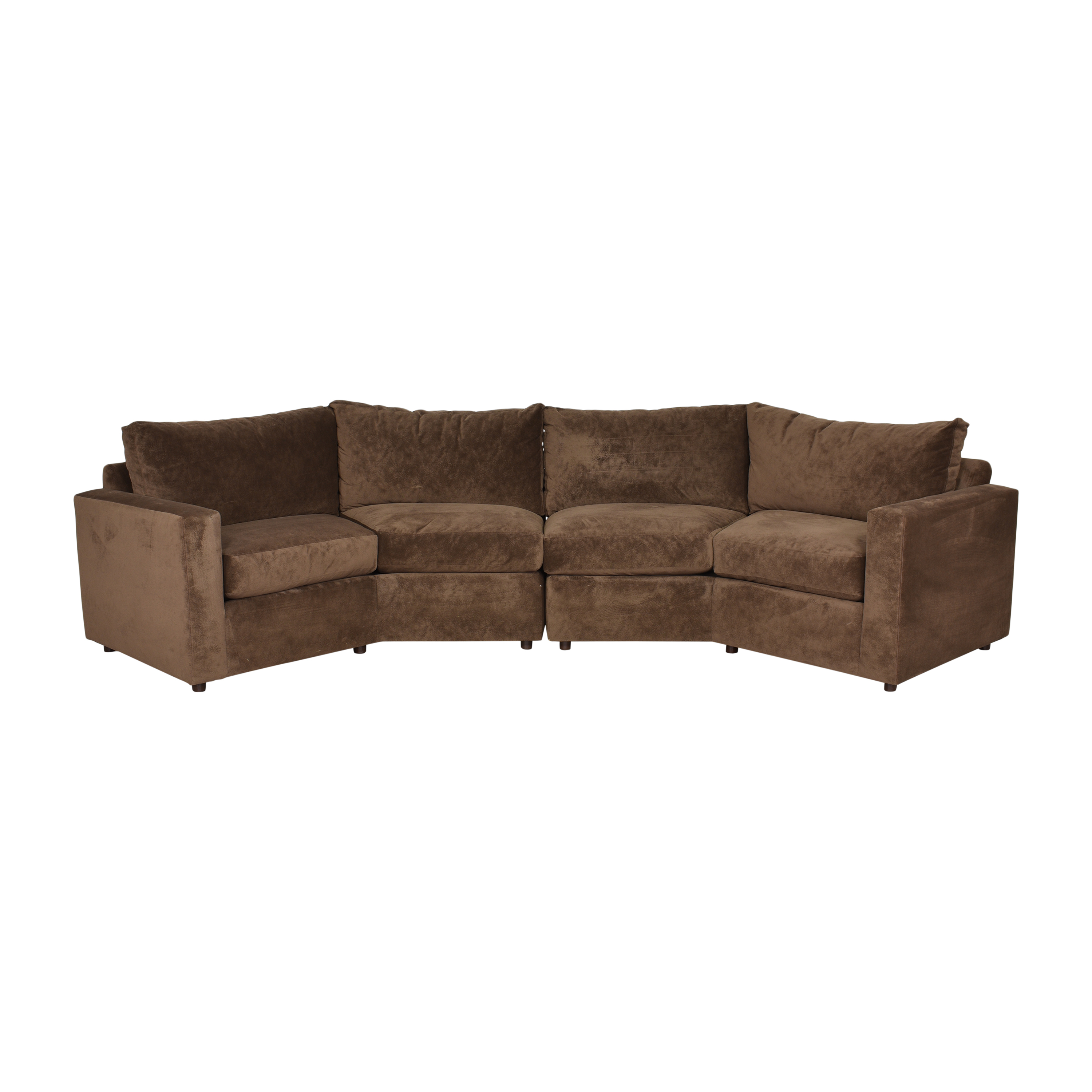 Two Piece Crescent Sectional Sofa dimensions