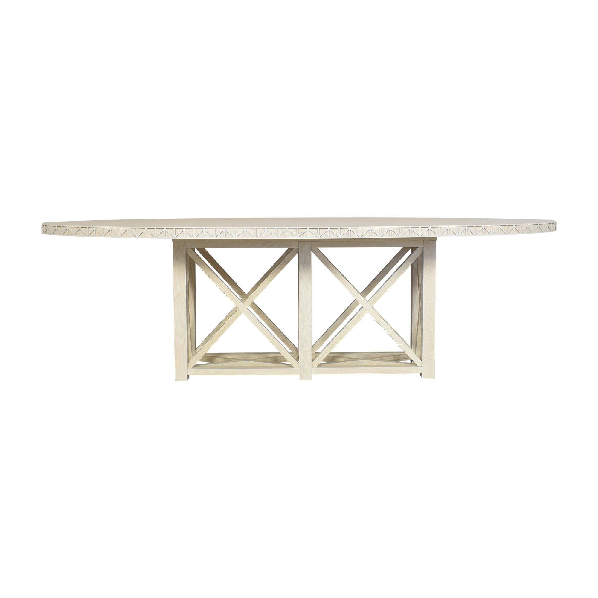 S.R. Gambrel S.R. Gambrel Custom Oval Dining Table Tables