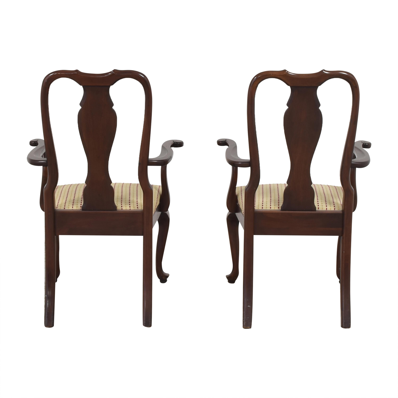 buy Ethan Allen Georgian Court Dining Arm Chairs Ethan Allen Dining Chairs