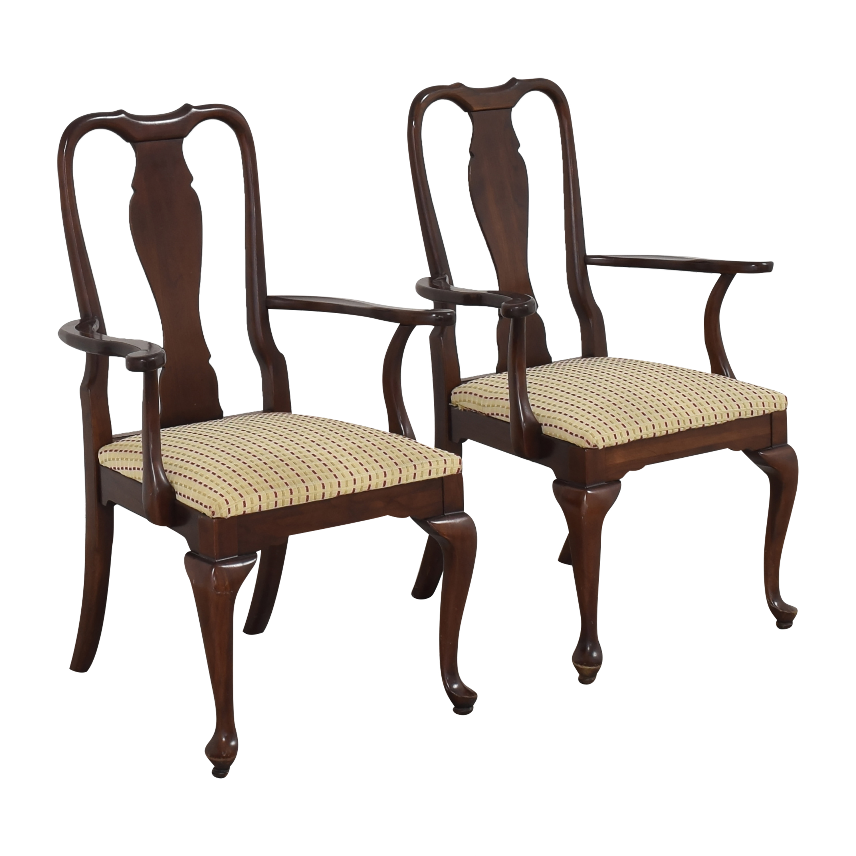 buy Ethan Allen Georgian Court Dining Arm Chairs Ethan Allen Chairs