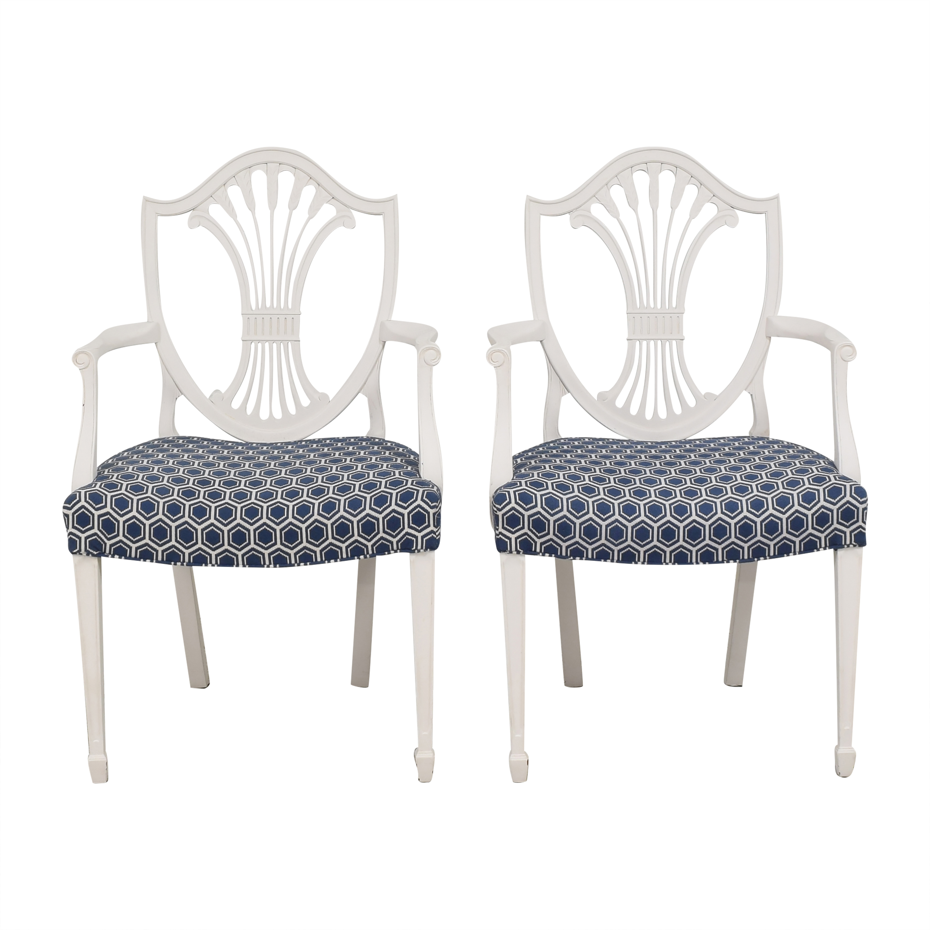 buy Shield Back Dining Arm Chairs  Dining Chairs
