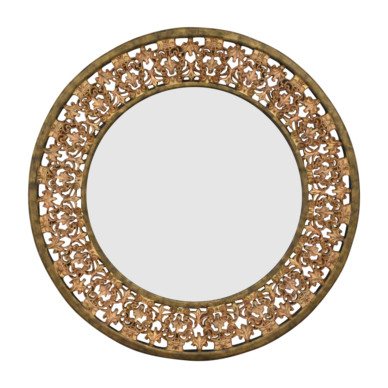 Ethan Allen Round Florentine Wall Mirror / Mirrors