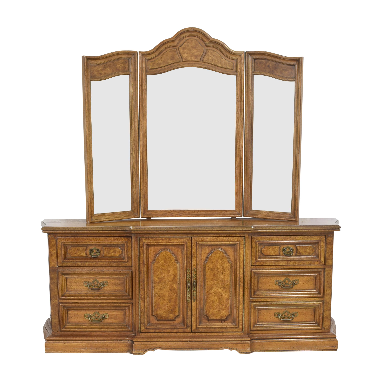 Unique Furniture Unique Furniture Triple Dresser with Trifold Mirror coupon