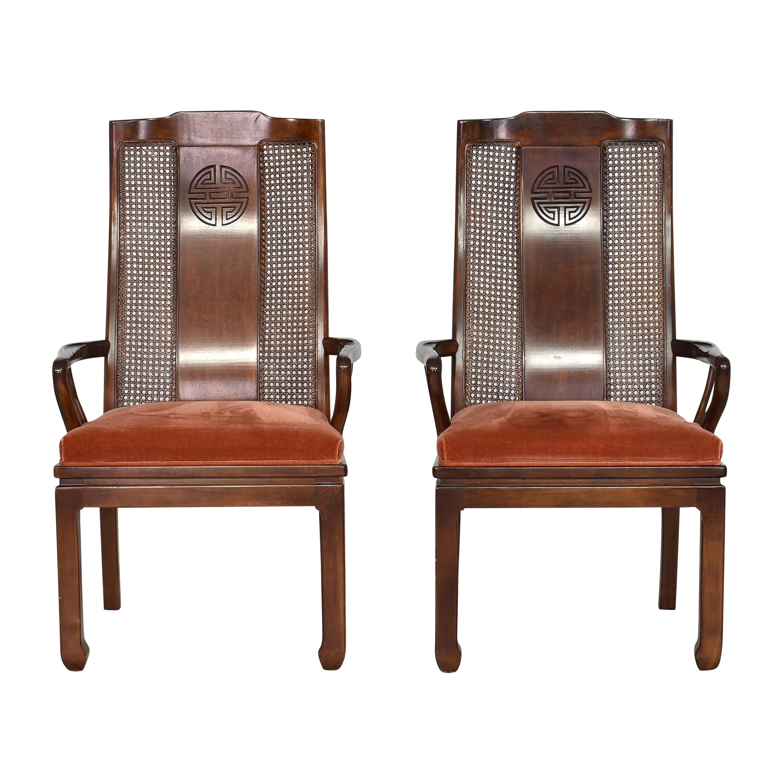 Bernhardt Bernhardt Upholstered Dining Arm Chairs nj