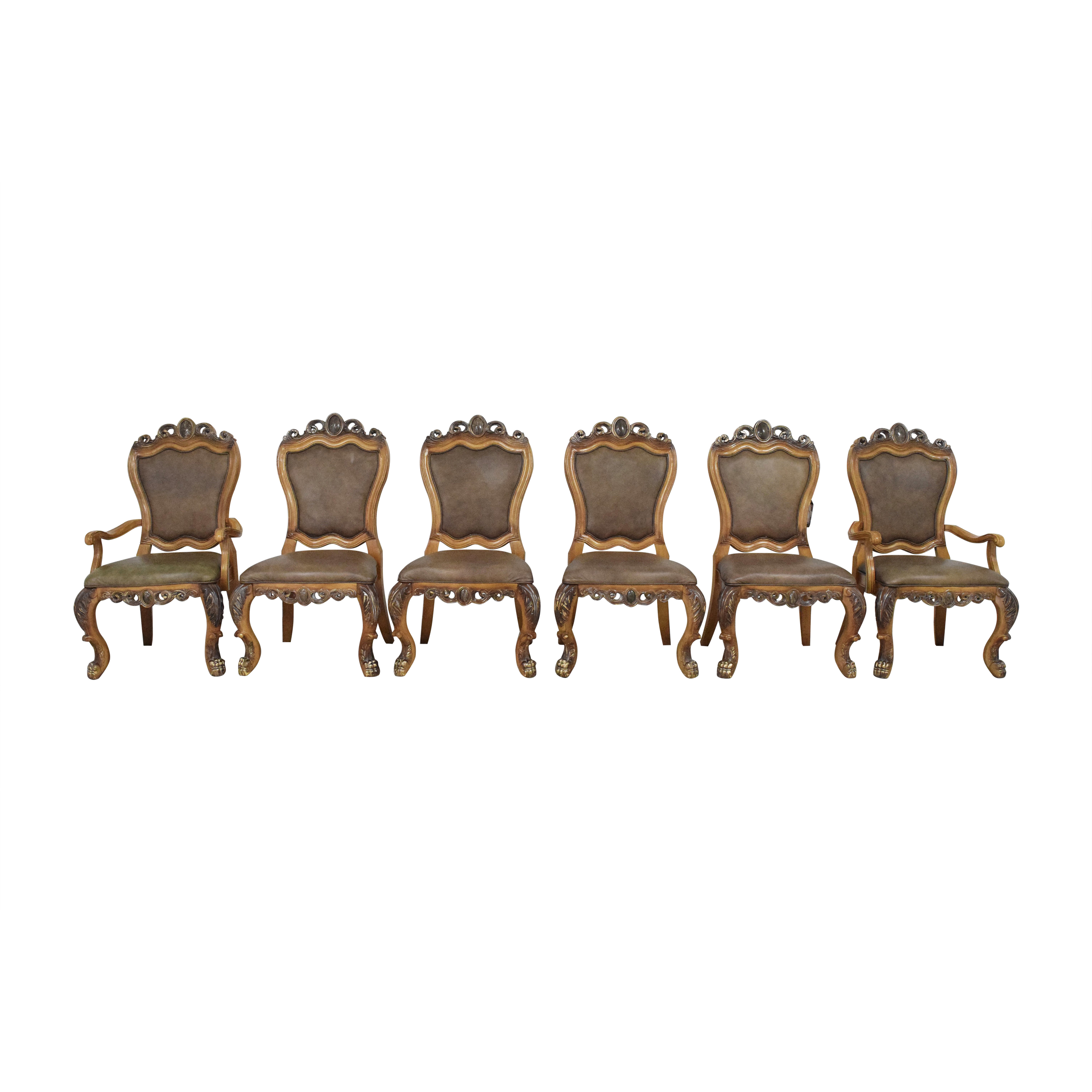 shop Collezione Europa Carved Dining Chairs Collezione Europa Dining Chairs