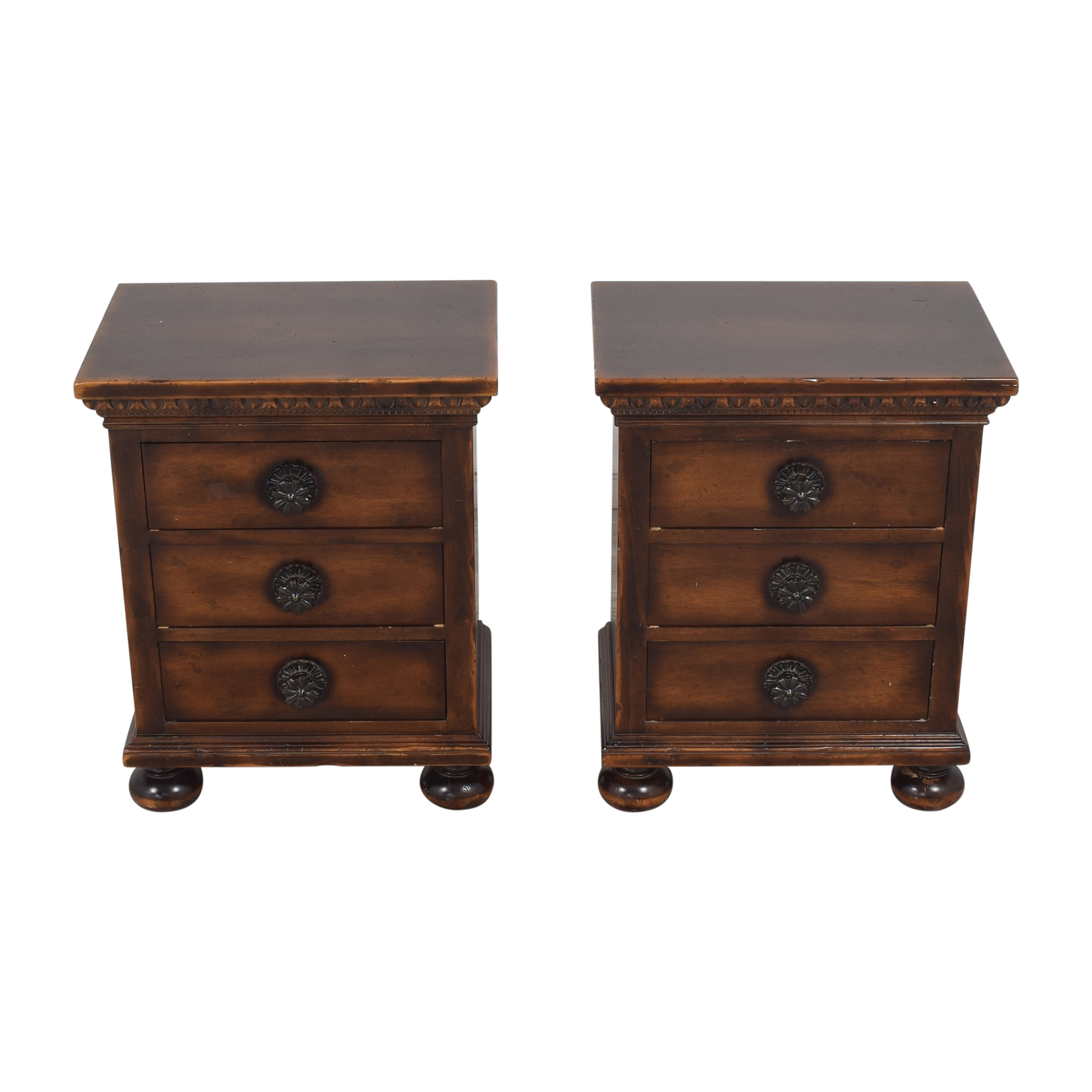 ABC Carpet & Home Three Drawer Nightstands / End Tables