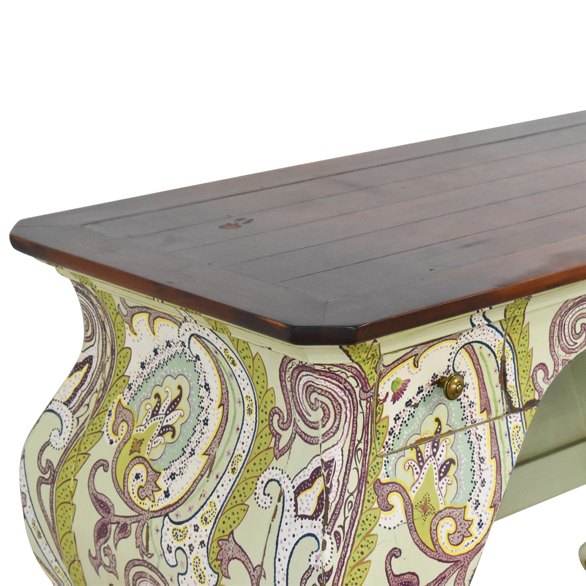 shop One Kings Lane One Kings Lane Two Drawer Paisley Accent Desk online