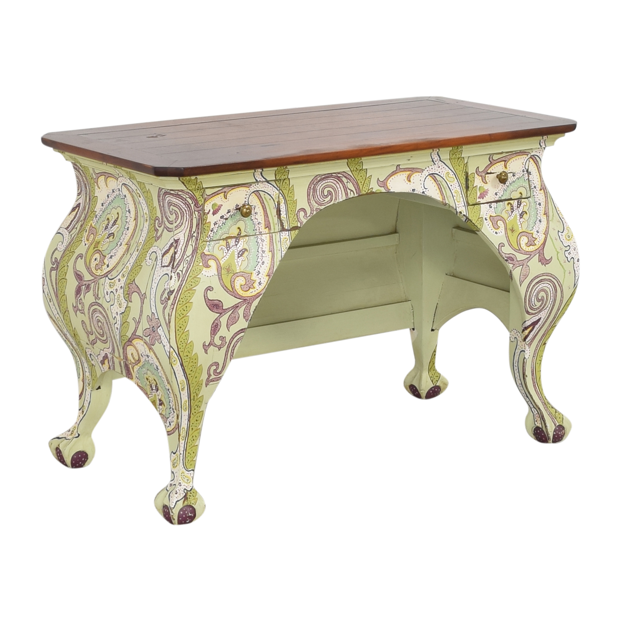 One Kings Lane Two Drawer Paisley Accent Desk / Home Office Desks