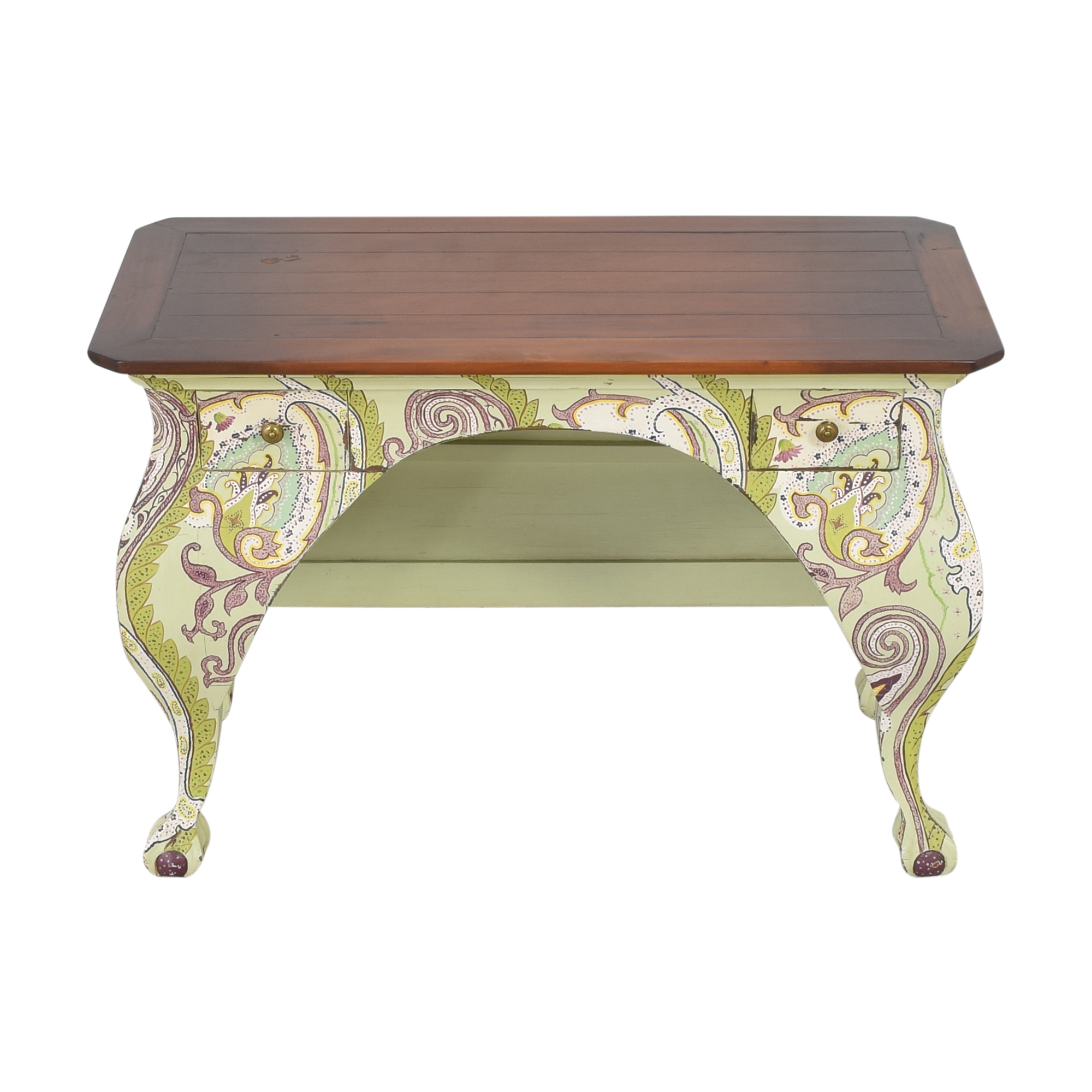 One Kings Lane Two Drawer Paisley Accent Desk / Tables